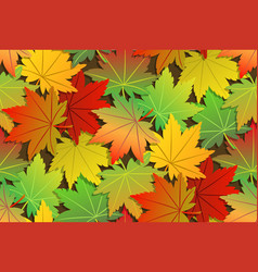 Colorful maple leaf pattern seamless set vector