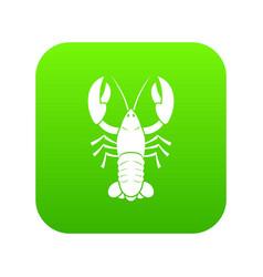 crawfish icon digital green vector image
