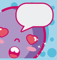 Cute kawaii emoji vector