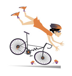 Bike Crash Cartoon Vector Images (75)