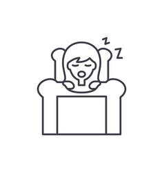 deep sleep line icon concept deep sleep vector image