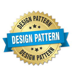 Design pattern round isolated gold badge vector