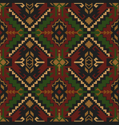 Ethnic geometric seamless pattern tribal rug vector