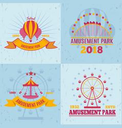 Fairground attractions design concept vector