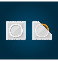 Flat of condom vector image