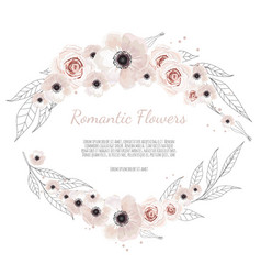 floral banner isolated on white background vector image