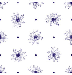 flower pattern seamless elegant hand-drawn flower vector image