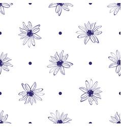 Flower pattern seamless elegant hand-drawn vector