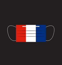 France flag printed on a mask vector