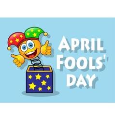 fun April Fools Day vector image