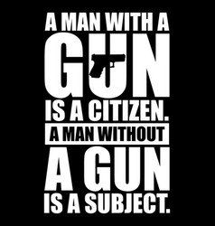 gun lover t-shirt design vector image