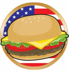 hamburger American flag vector image