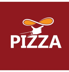 handmade pizza design template vector image