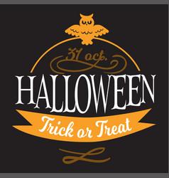 happy halloween lettering logo sign vector image