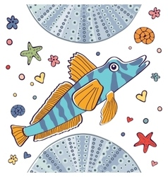 I is for Icefish vector