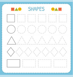Learn shapes and geometric figures preschool or vector
