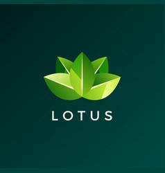lotus leaf logo icon vector image
