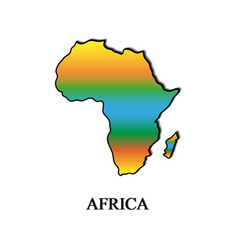map of africa color on a white background vector image