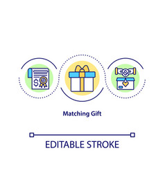 Matching gift concept icon vector