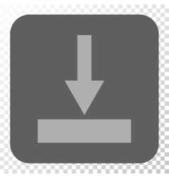 Move Bottom Rounded Square Button vector