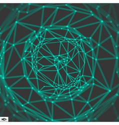 Network Abstract Background 3d Technology vector