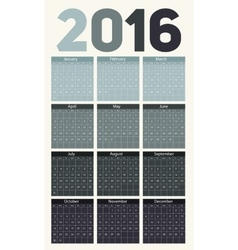New Year Calendar 2016 on Abstract Mobile Phone vector