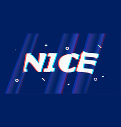 Nice in design banner template for web vector