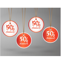 offer sale price tag discount vector image