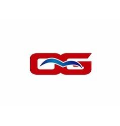 OG letter logo vector image