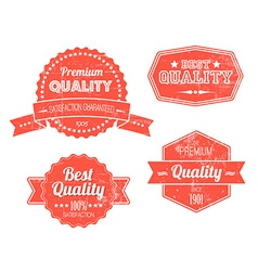 Old red retro vintage grunge labels vector