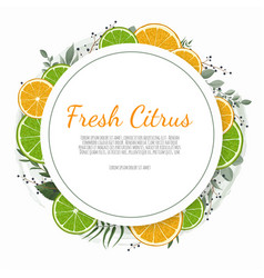 Orange fruits and flowers summer banner graphic vector