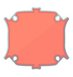 Paper label icon cartoon style vector
