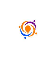 People idea logo template vector