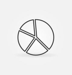 pie chart concept icon in thin line style vector image