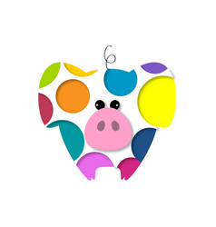pig new year 2019 year of the pig vector image