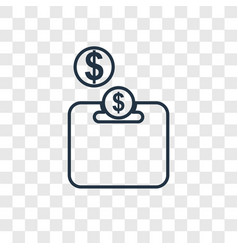 piggy bank concept linear icon isolated on vector image
