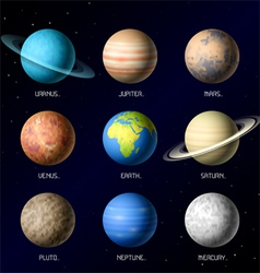 Planets solar system vector