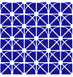 porcelain pattern blue and white vector image