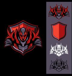 red dark knight vector image