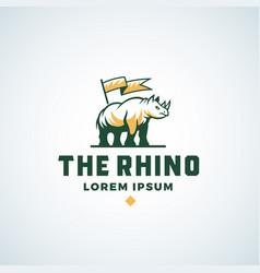 Rhino abstract sign symbol or logo vector