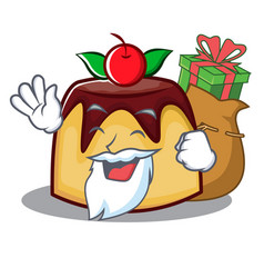 Santa pudding character cartoon style vector