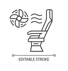 seat conditioner linear icon vector image