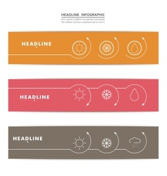 Set of banners with contour elements eps vector image
