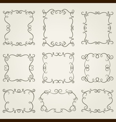 Set of stylised frames vector