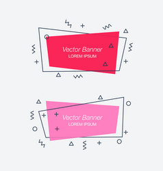 Set of trendy flat geometric banners vector