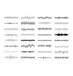 Set waving vibration and pulsing lines vector