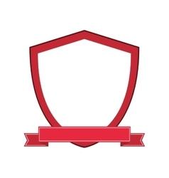 shield ribbon banner design vector image