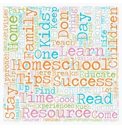 Simple Homeschool Success Tips text background vector image