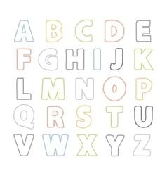 Simple Line alphabet vector