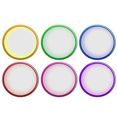 Six colorful buttons vector image